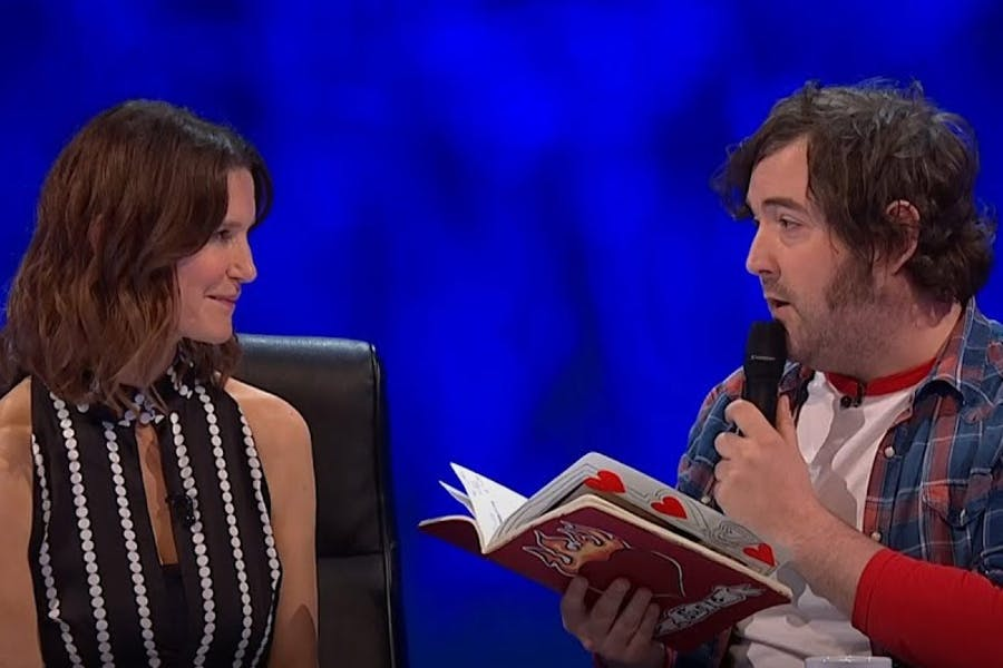 Serenading Susie Dent on 8 Out Of 10 Cats Does Countdown
