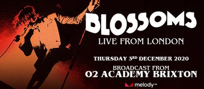 Blossoms announce livestream from O2 Academy Brixton